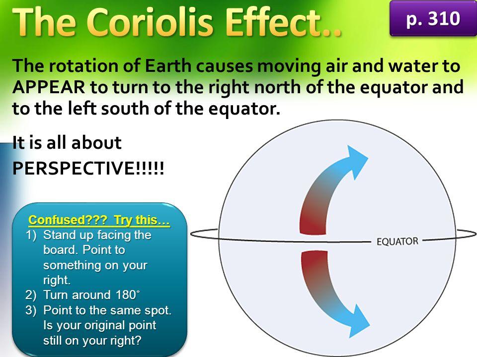 The Coriolis Effect.. p. 310.