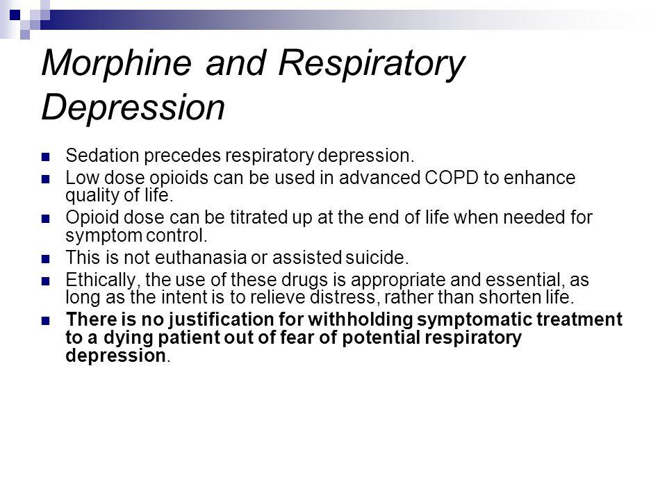 Morphine and Respiratory Depression