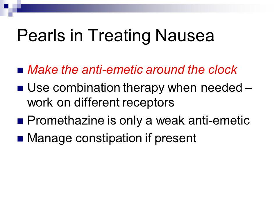 Pearls in Treating Nausea