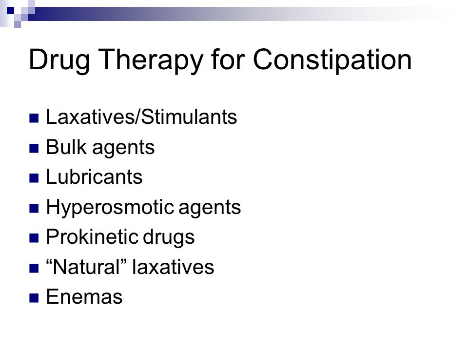 Drug Therapy for Constipation