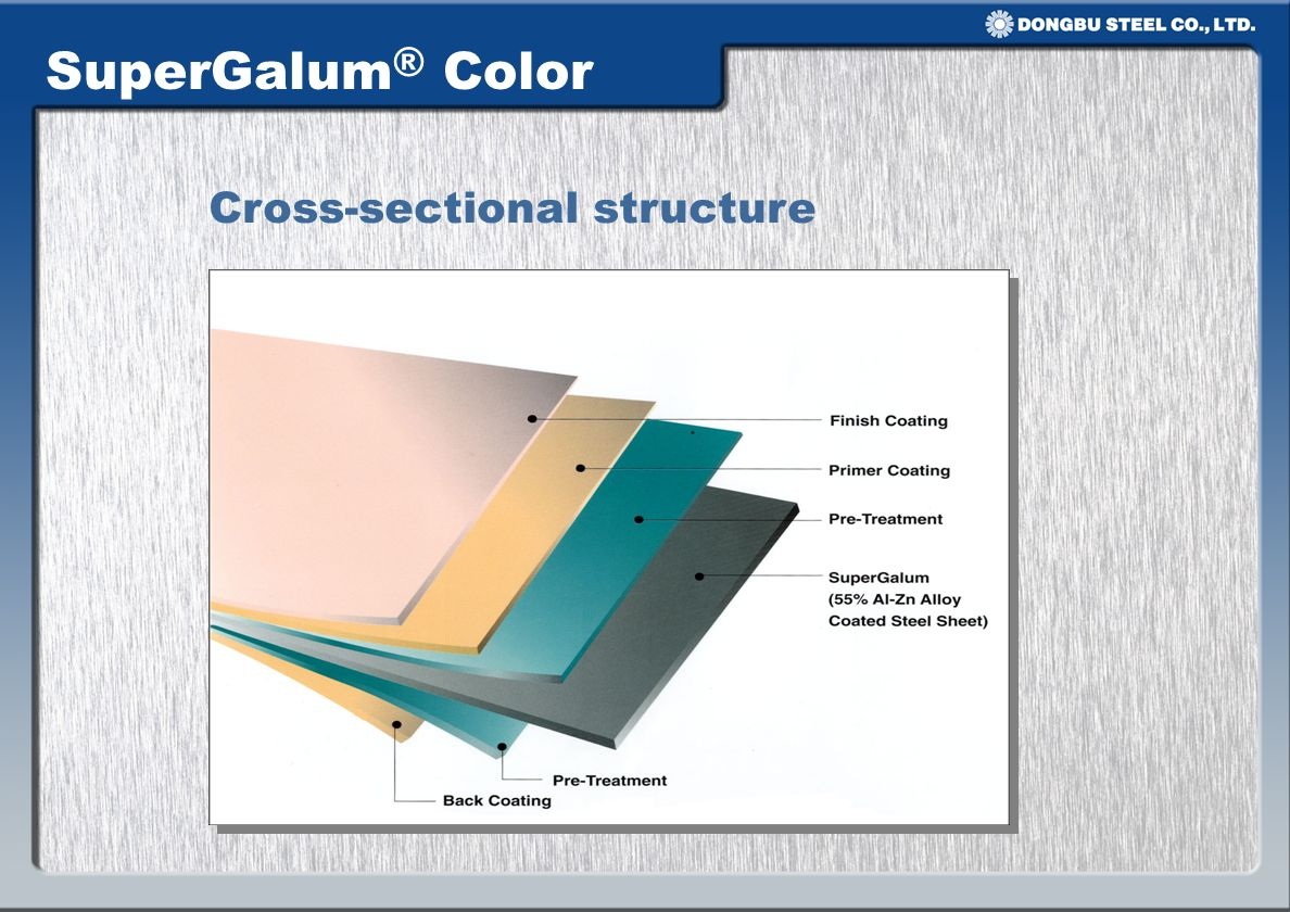 SuperGalum® Color Cross-sectional structure