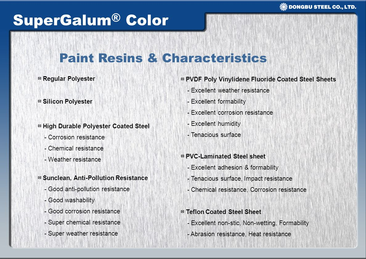 Paint Resins & Characteristics