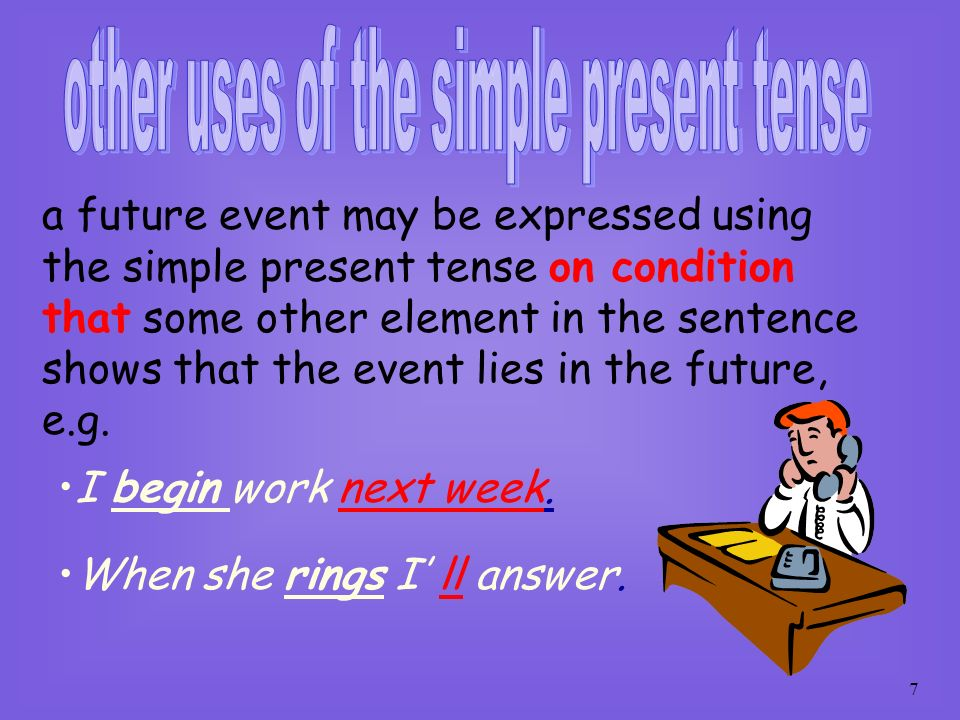 other uses of the simple present tense