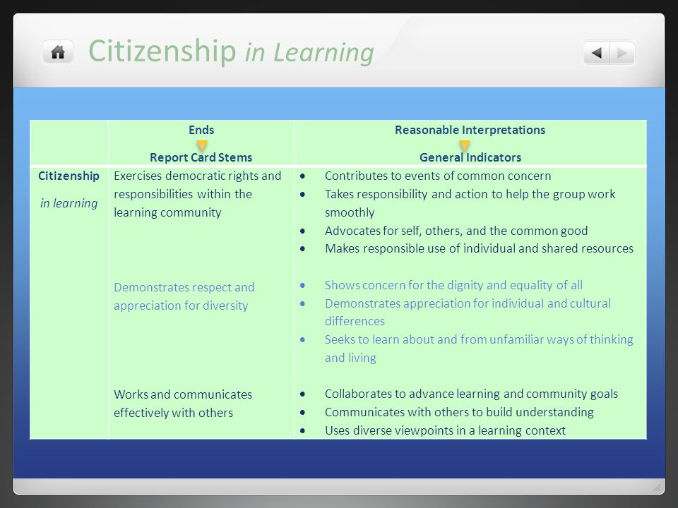 Citizenship in Learning