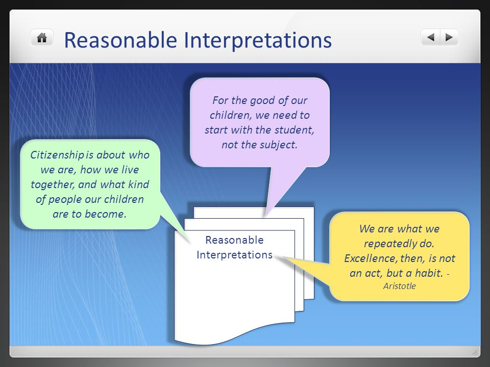Reasonable Interpretations