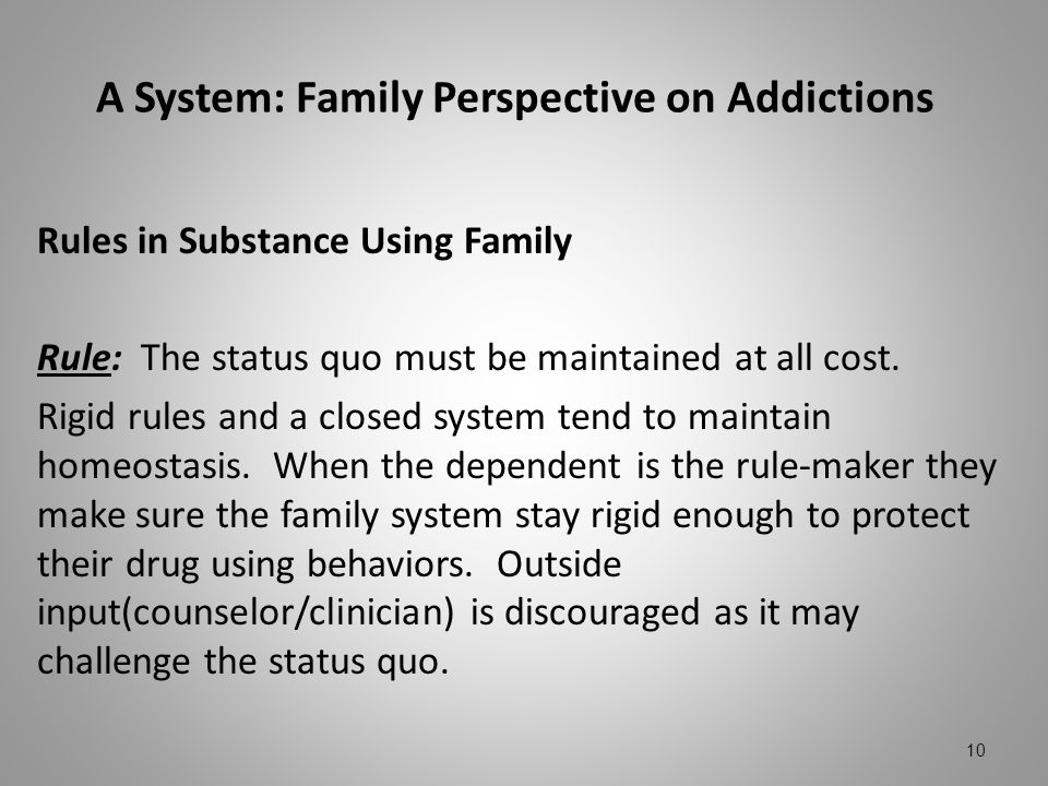 A System: Family Perspective on Addictions