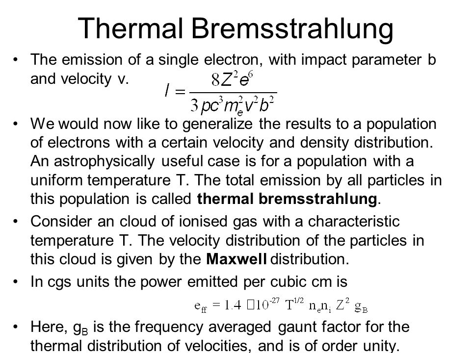 Thermal Bremsstrahlung