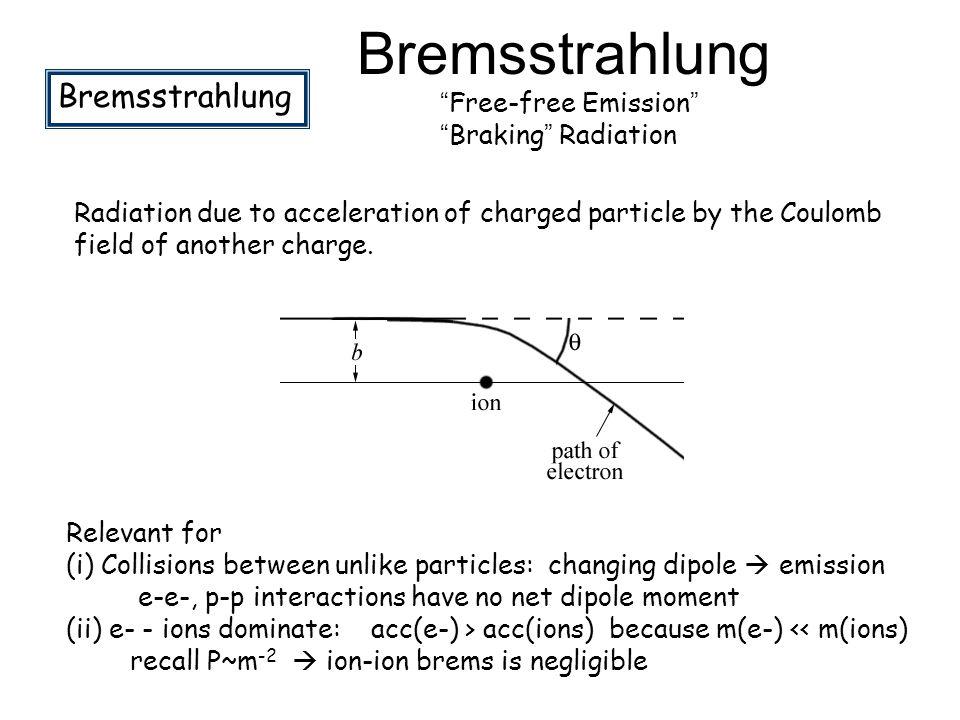 Bremsstrahlung Bremsstrahlung Free-free Emission Braking Radiation