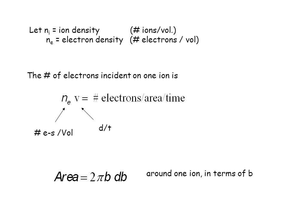 Let ni = ion density (# ions/vol.)