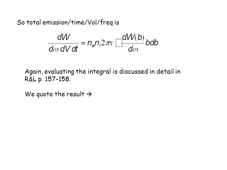 So total emission/time/Vol/freq is
