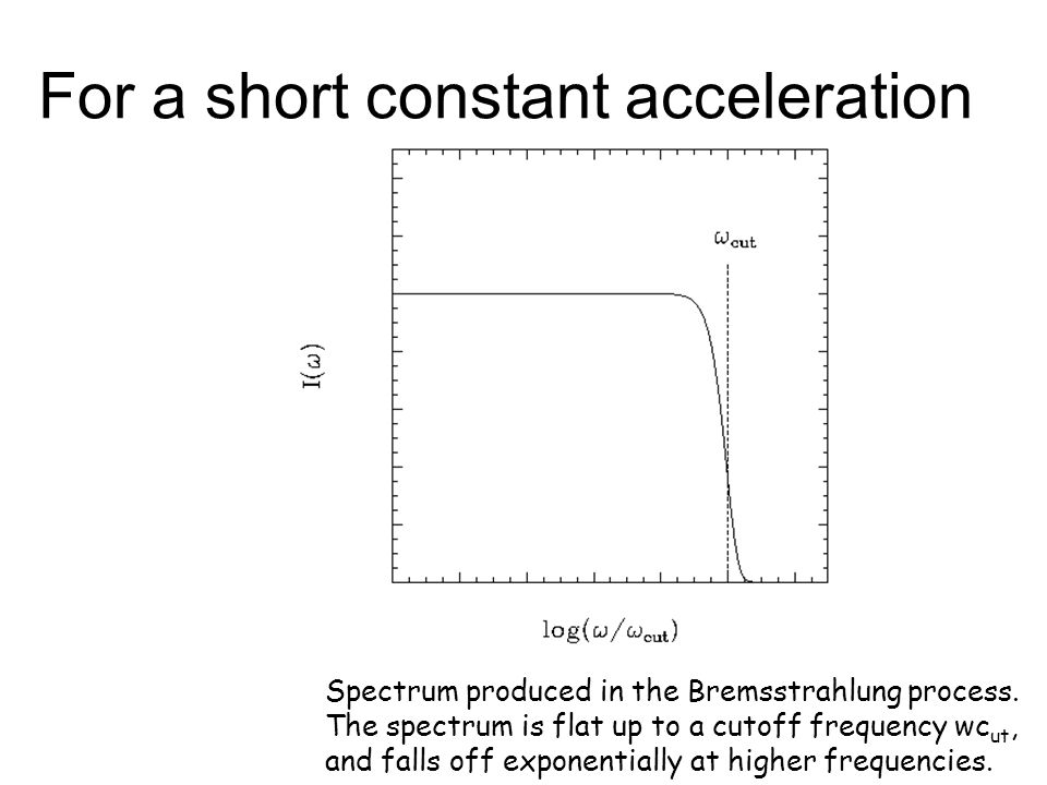 For a short constant acceleration