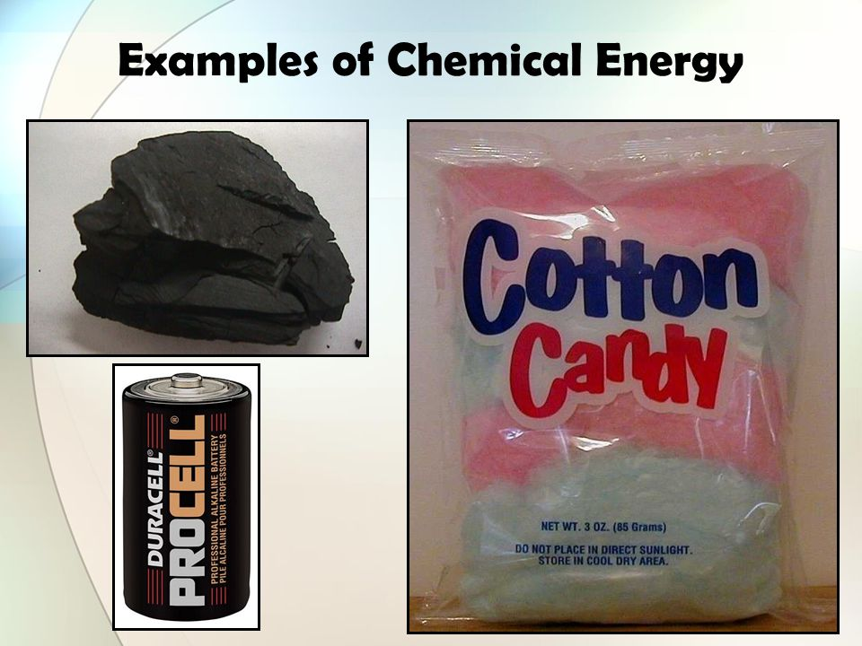 Examples of Chemical Energy
