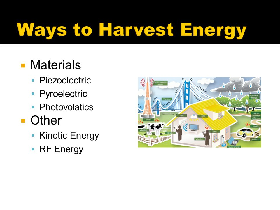 Ways to Harvest Energy Materials Other Piezoelectric Pyroelectric
