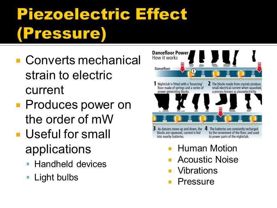 Piezoelectric Effect (Pressure)