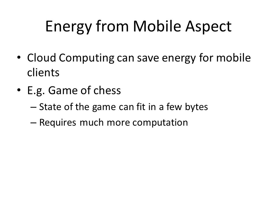 Energy from Mobile Aspect