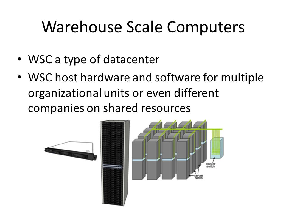 Warehouse Scale Computers