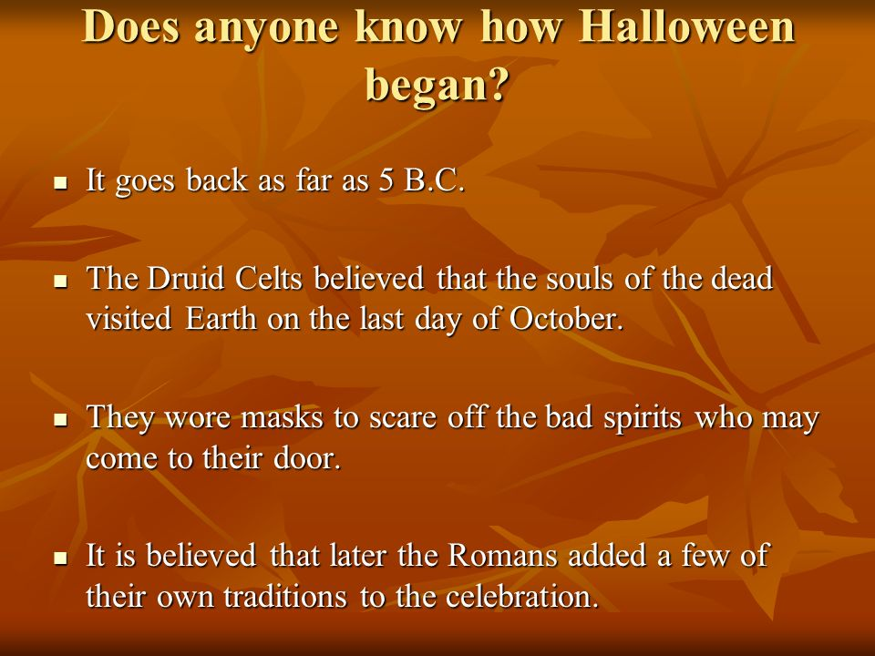 2 does - Where Does The Halloween Celebration Come From