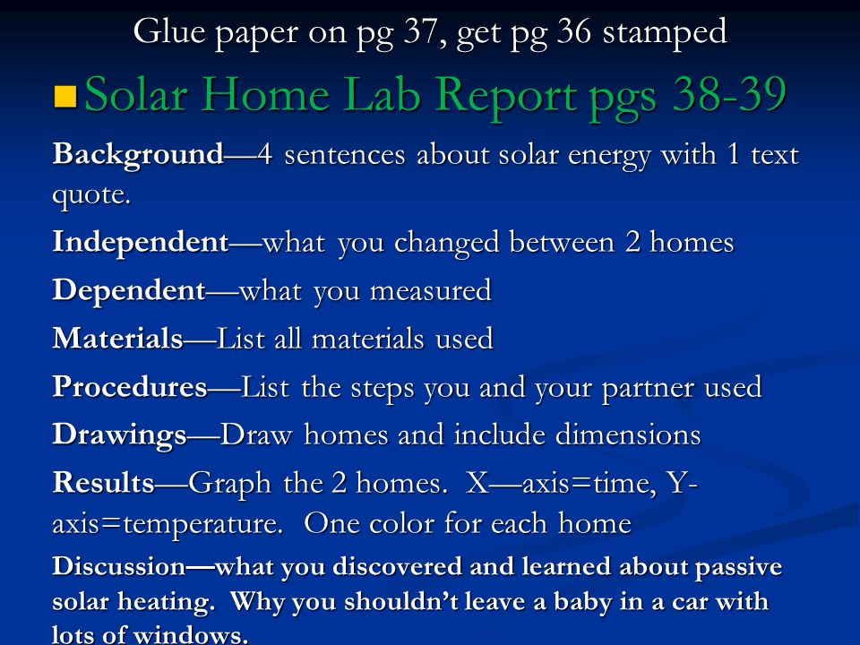 Glue paper on pg 37, get pg 36 stamped