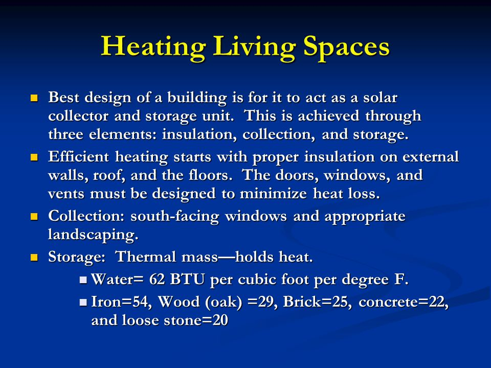Heating Living Spaces