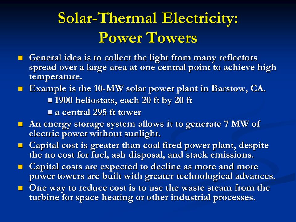 Solar-Thermal Electricity: Power Towers