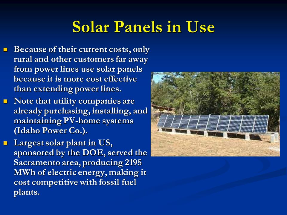 Solar Panels in Use