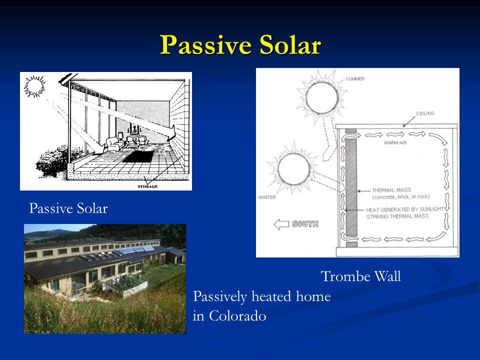 Passive Solar Passive Solar Trombe Wall