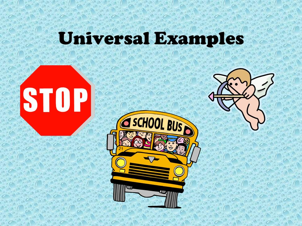 Universal Examples