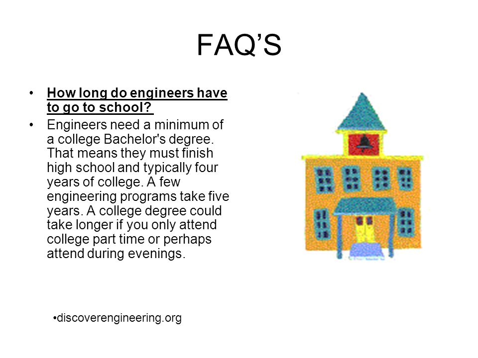 FAQ'S How long do engineers have to go to school