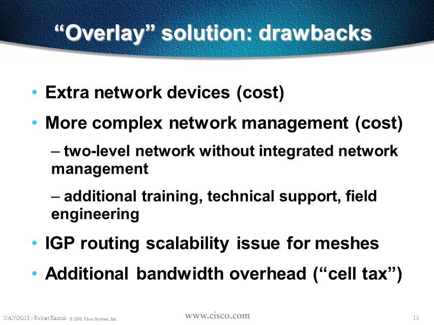 Overlay solution: drawbacks