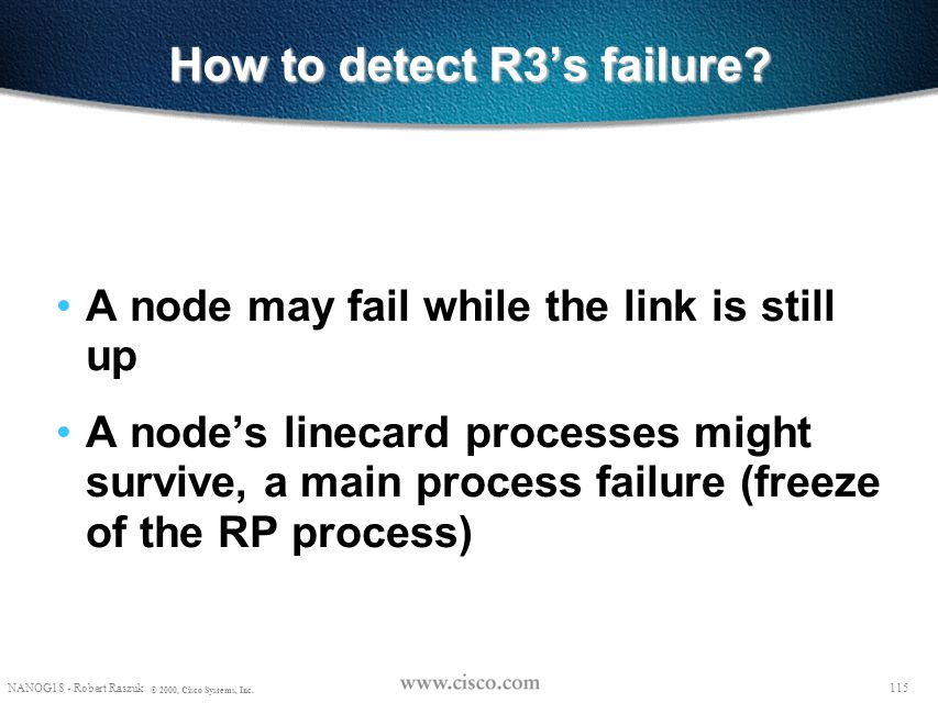 How to detect R3's failure