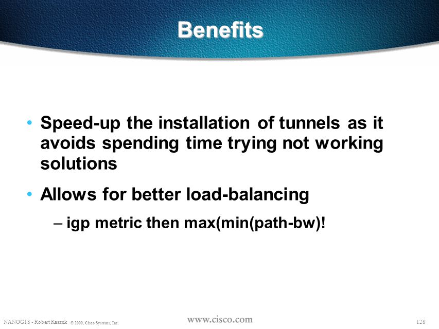 Benefits Speed-up the installation of tunnels as it avoids spending time trying not working solutions.