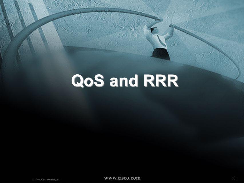 QoS and RRR © 1999, Cisco Systems, Inc. 133