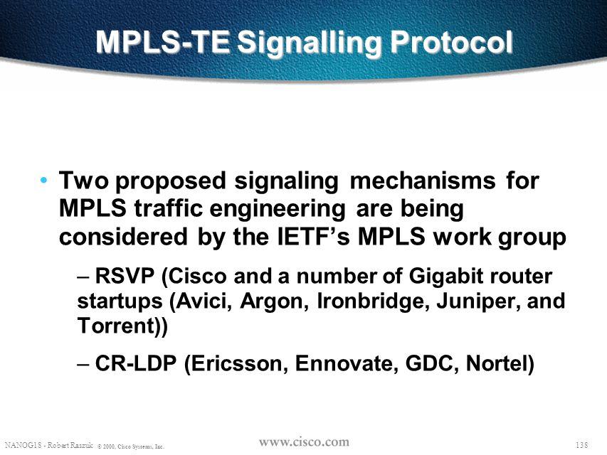 MPLS-TE Signalling Protocol