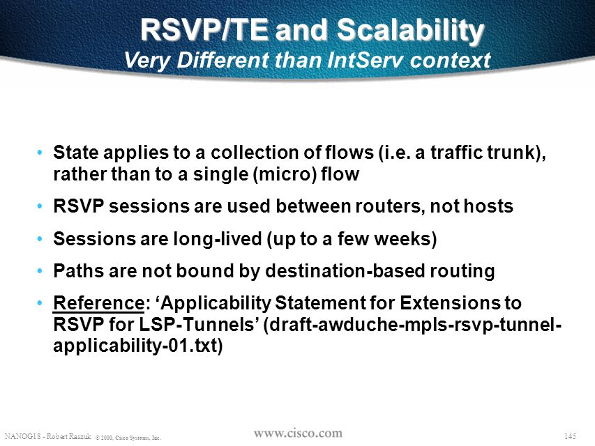 RSVP/TE and Scalability