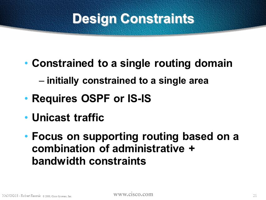 Design Constraints Constrained to a single routing domain