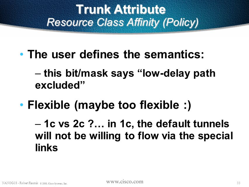 Trunk Attribute Resource Class Affinity (Policy)