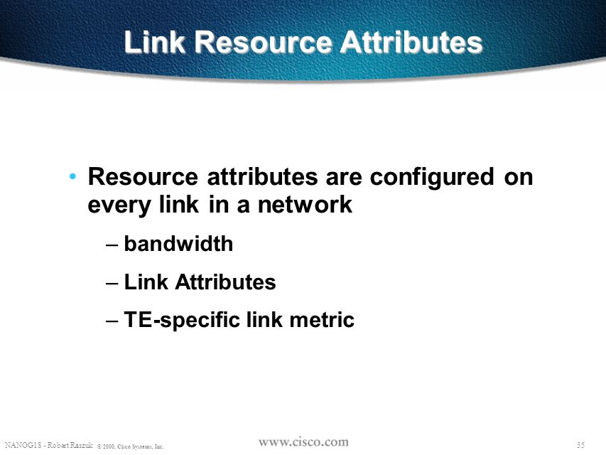 Link Resource Attributes