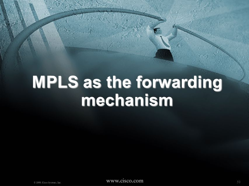 MPLS as the forwarding mechanism