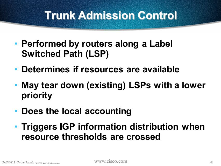 Trunk Admission Control