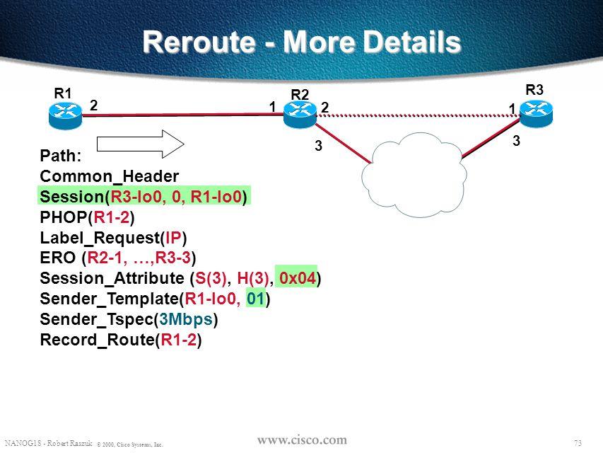 Reroute - More Details R3. R1. R2. 2. 1. 2. 1. 3. 3.
