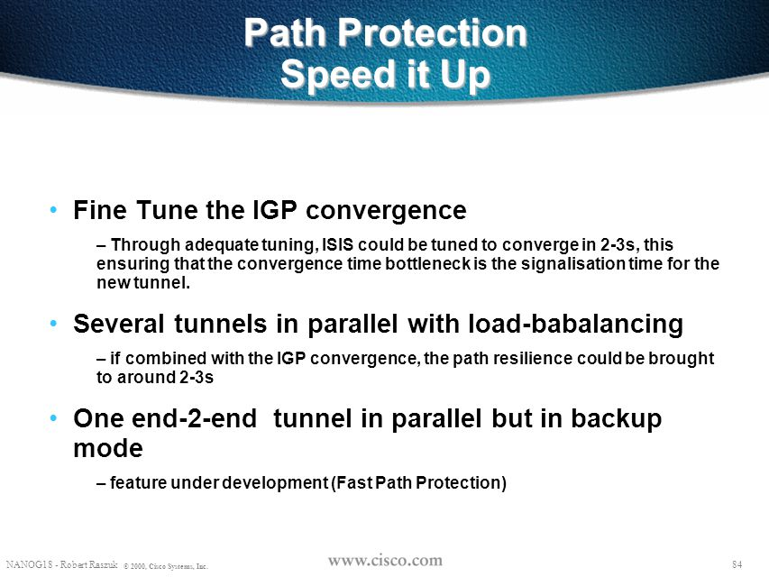 Path Protection Speed it Up