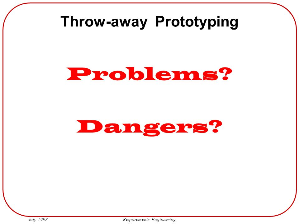 Throw-away Prototyping