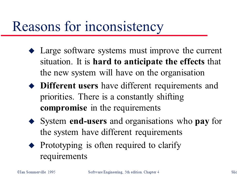 Reasons for inconsistency