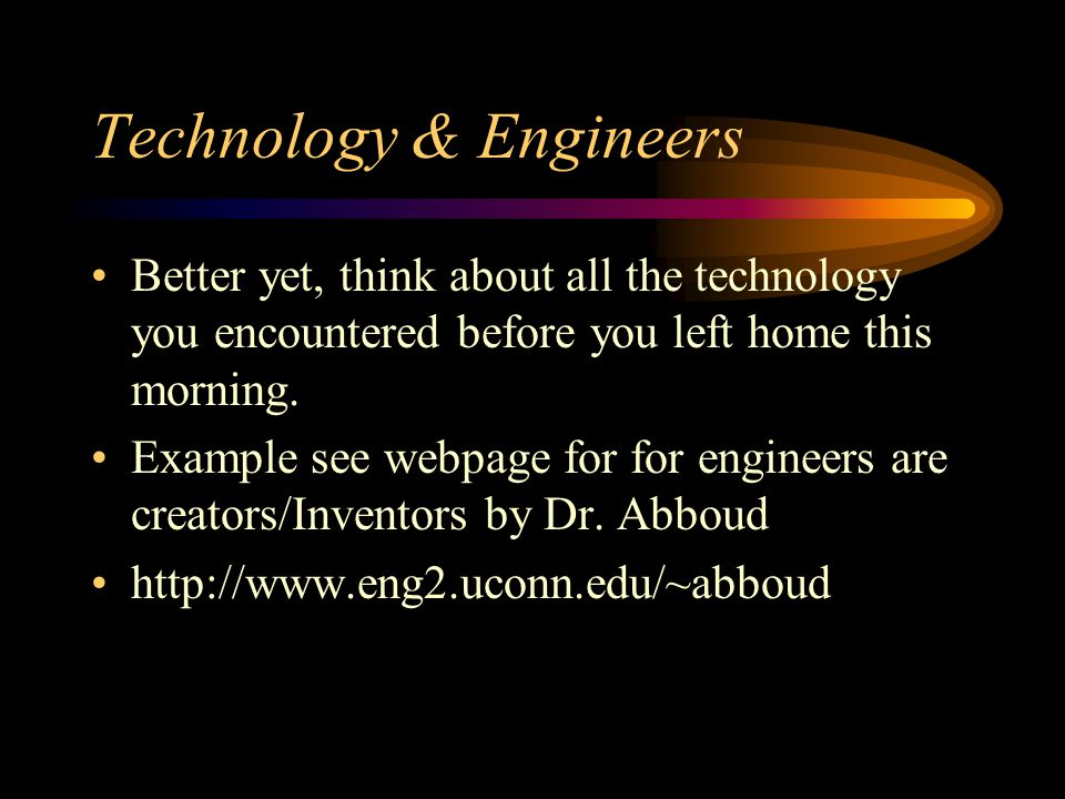 Technology & Engineers
