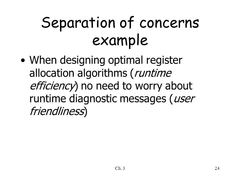 Separation of concerns example