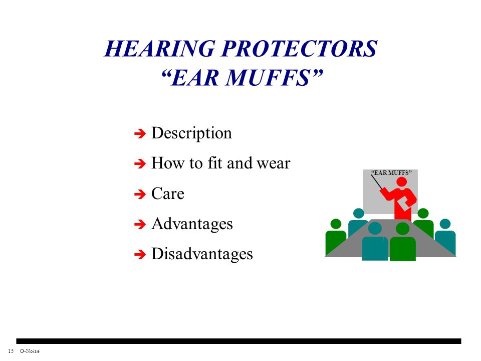 HEARING PROTECTORS EAR MUFFS