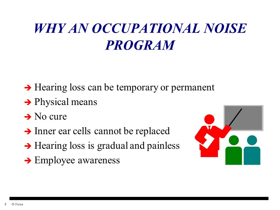 WHY AN OCCUPATIONAL NOISE PROGRAM