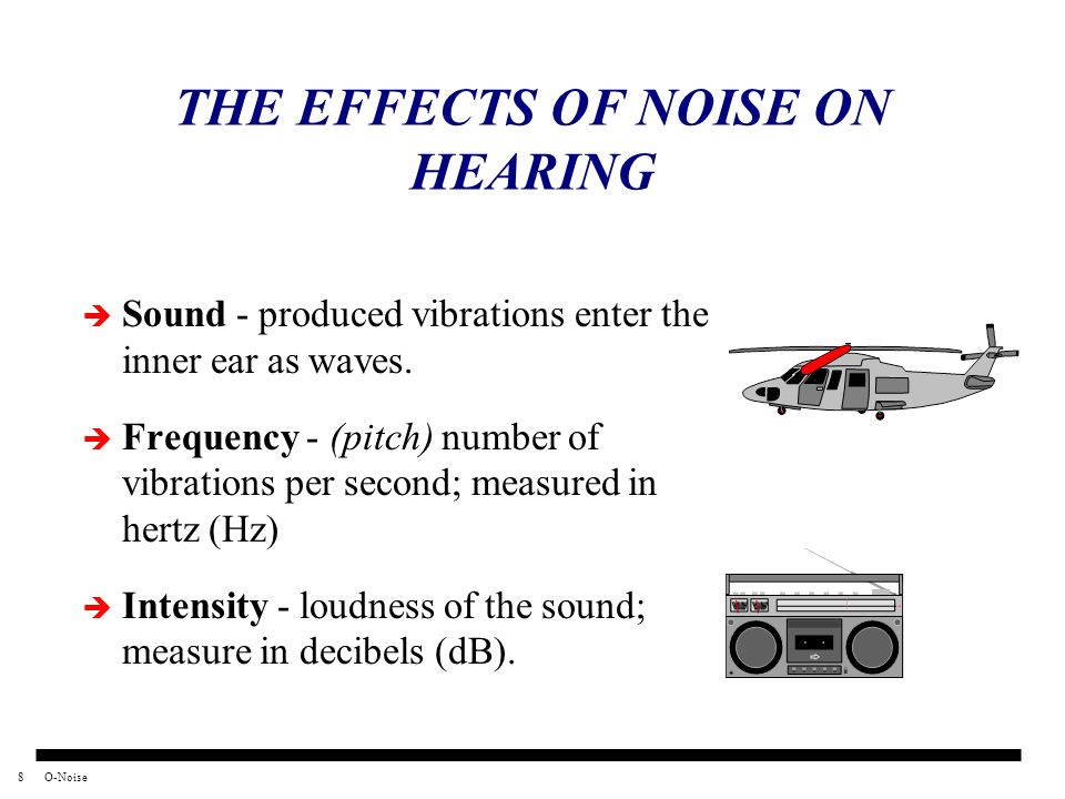 THE EFFECTS OF NOISE ON HEARING