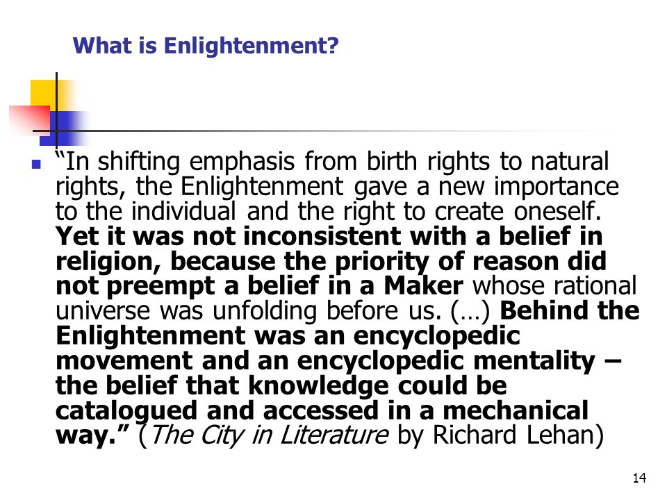 What is Enlightenment