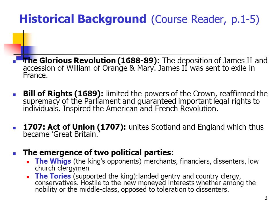 Historical Background (Course Reader, p.1-5)